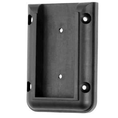 Black Plastic Railing Connectors (2-Pack)