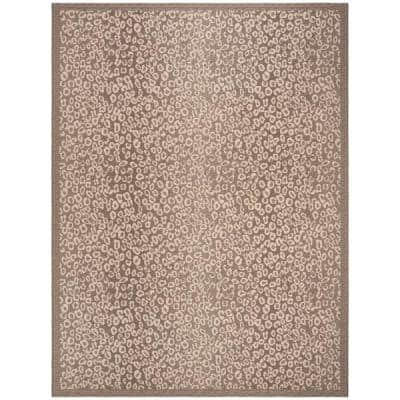 Courtyard Dark Beige/Beige 8 ft. x 11 ft. Indoor/Outdoor Area Rug