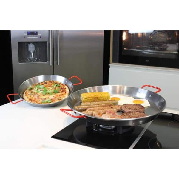 Magefesa Pizza And Paella 15 In Carbon On Steel Pan 01papaepu38 The Home Depot