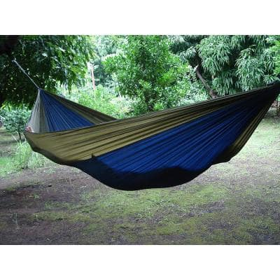 10 ft. Parachute Double Hammock in Navy/Olive