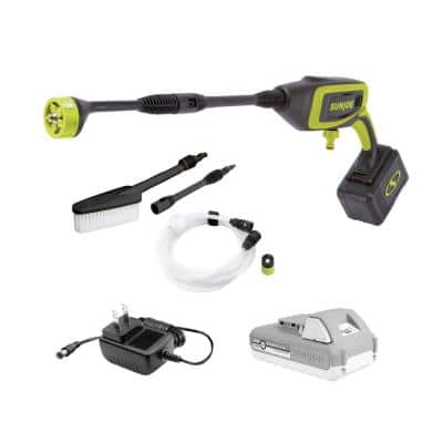 24-Volt 350 PSI Max 0.6 GPM Cold Water Electric Power Cleaner Kit with 2.0 Ah Battery Plus Charger