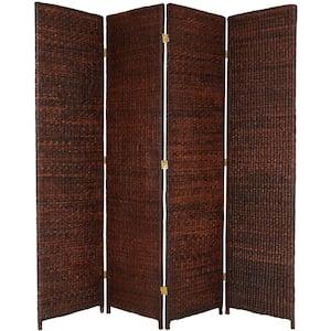 6 ft. Dark Brown 4-Panel Room Divider