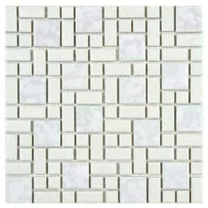 University White 11-3/4 in. x 11-3/4 in. x 5 mm Porcelain Mosaic Tile (9.8 sq. ft. / case)