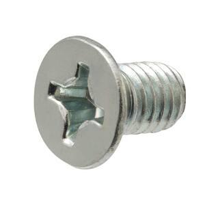 M6-1.0 x 35 mm Phillips Flat Head Zinc Plated Machine Screw (2-Pack)