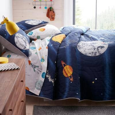 Space Travel Handcrafted Cotton Quilt