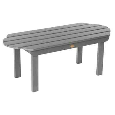 Classic Westport Coastal Teak Rectangular Recycled Plastic Outdoor Coffee Table