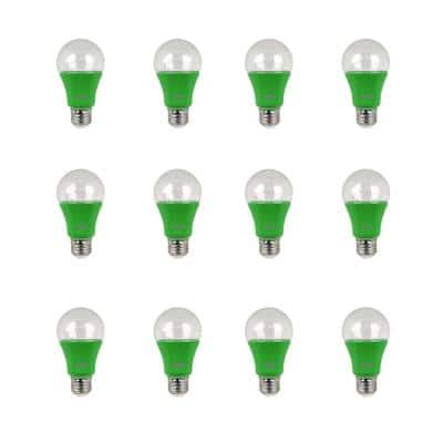 9-Watt Equivalent A19 Medium E26 LED Non-Dimmable Indoor and Greenhouse Full Spectrum Plant Grow Light Bulb (12-Pack)