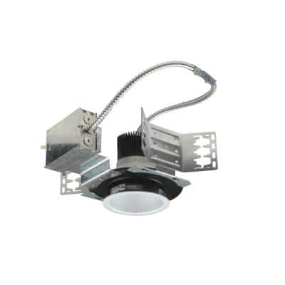 4 in. White (4000K) Recessed Architectural LED Downlight Kit with Housing and LED Trim with 1000 Lumens