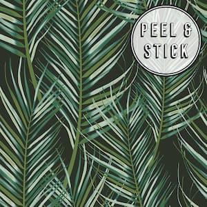 Palm Green/Black Vinyl Peelable Roll (Covers 30.75 sq. ft.)