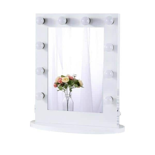 Boyel Living 22 In W X 26 H Framed, Home Depot Makeup Vanity Mirror With Lights
