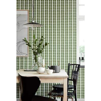 Bers Green Leaf Paper Strippable Roll Wallpaper (Covers 57.8 sq. ft.)