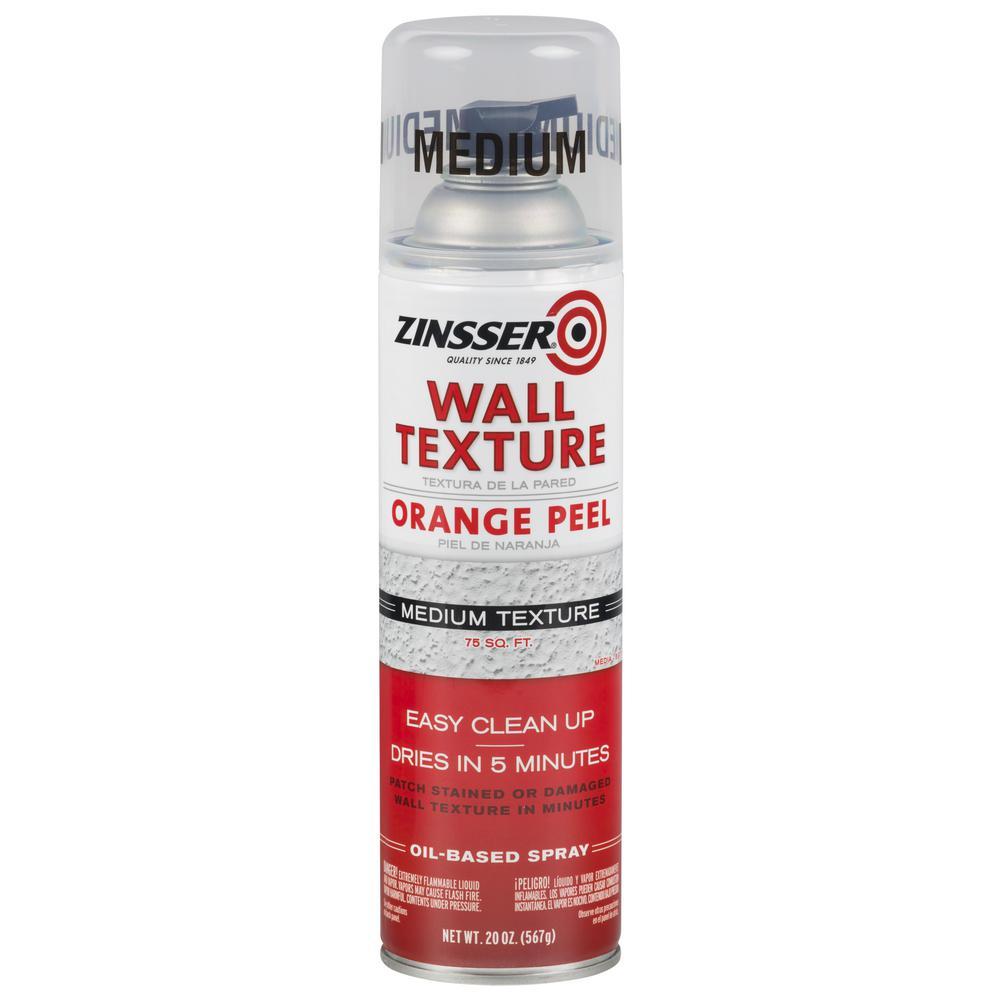 20 oz. Oil-Based Bright White Medium Orange Peel Wall Texture Spray (6-Pack)