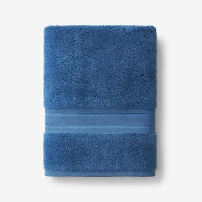 Company Cotton Sapphire Solid Turkish Cotton Bath Towel