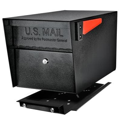 Mail Manager PRO Locking Post Mount Mailbox with High Security Reinforced Patented Locking System, Black