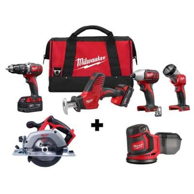 M18 18-Volt Lithium-Ion Cordless Combo Tool Kit (4-Tool) with M18 6-1/2 in. Circular Saw and Random Orbit Sander