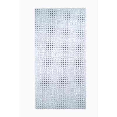 DuraBoard 48 in. x 96 in. x 1/4 in. White Polypropylene Pegboard with 9/32 in. Hole Size and 1 in. O.C. Hole Spacing