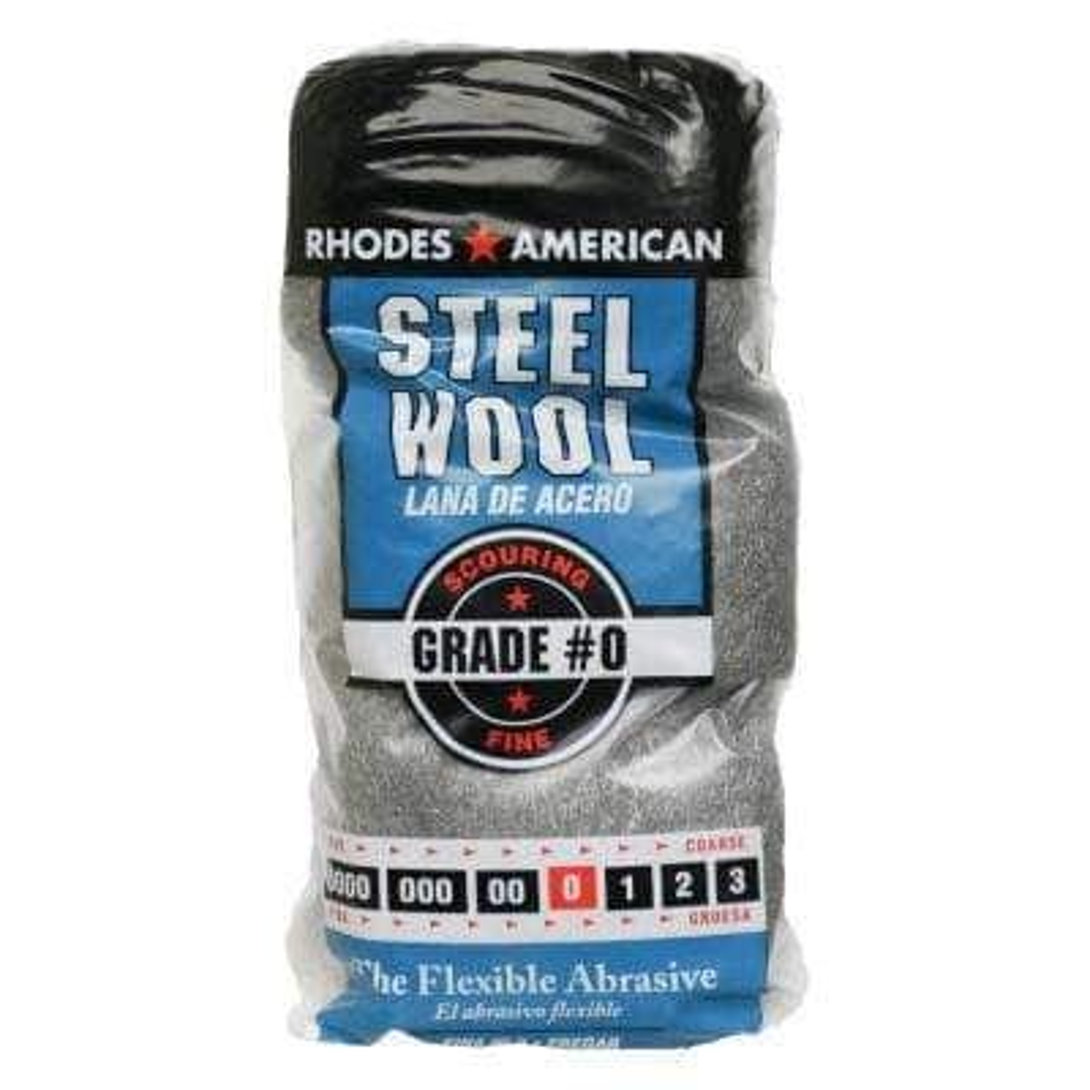 Fine Grade #0 Steel Wool (12-Pad)