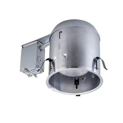 6 in. Aluminum Recessed Can Light IC Remodel Housing