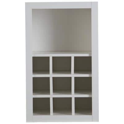 Benton Ready-to-Assemble 18x30x12 in. Flex Wall Cabinet with Shelves and Dividers in White