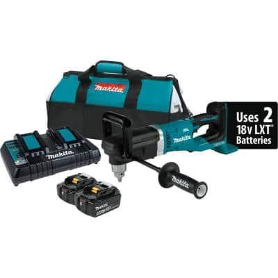 18-Volt X2 (36-Volt) 5.0 Ah LXT Lithium-Ion Brushless Cordless 1/2 in. Right Angle Drill Kit