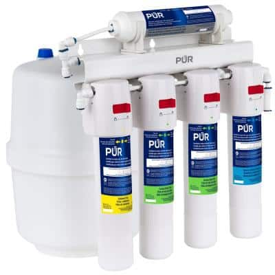 5-Stage Quick Connect 20.3 GPD Reverse Osmosis Water Filtration System with Faucet