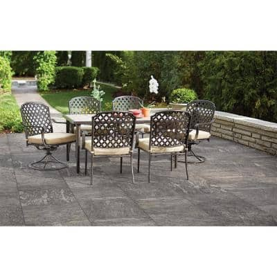 24 in. x 24 in. Alpe Grey Porcelain Paver