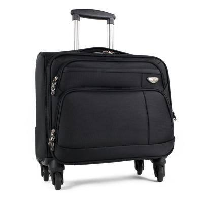 Franklin Black Carry-On Spinner Briefcase Luggage with 16 in. Laptop Compartment