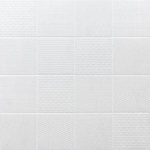Oakland Decor White 6 in. x 6 in. Matte Porcelain Floor and Wall Tile (44 pieces 10.76 sq. ft. / box)