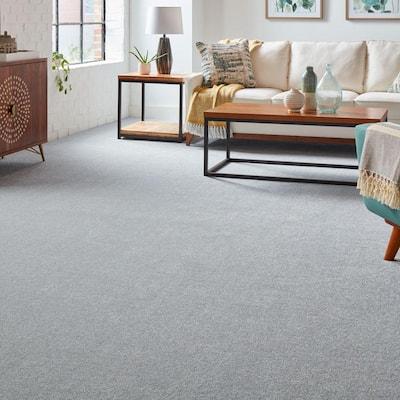Silver Mane I - Color Batik Texture Blue Carpet