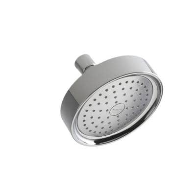 Purist Katalyst 1-Spray 5.5 in. Single Wall Mount Fixed Shower Head in Polished Chrome