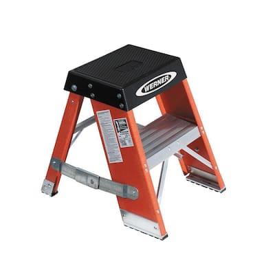 2 ft. Fiberglass Step Ladder with 375 lb. Load Capacity Type IAA Duty Rating