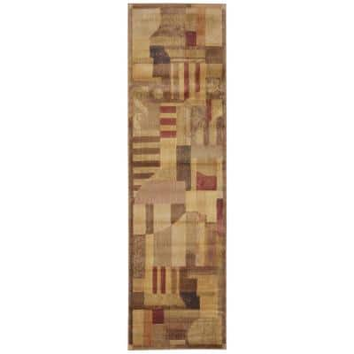 Somerset Multicolor 2 ft. x 6 ft. Abstract Art Deco Runner Rug