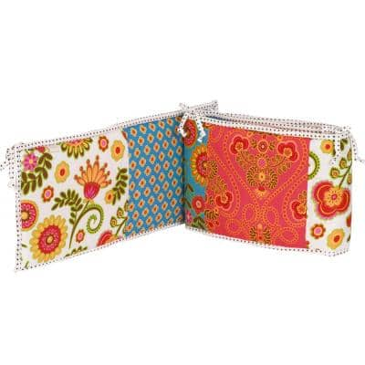 Gypsy Floral Cotton 4-Sectional Crib Bumper Pads