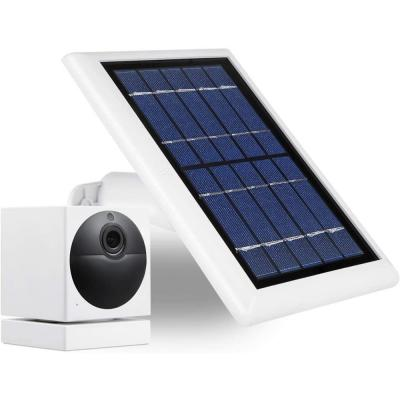 2-Watt 5-Volt White Solar Panel for Wyze Cam Outdoor - Power Your Surveillance Camera Continuously (1-Pack)
