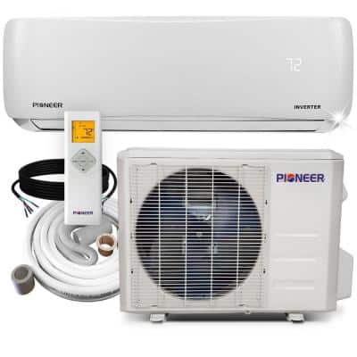 18,000 BTU 1.5 Ton 19 SEER Ductless Mini Split Inverter+ Wall Mounted Air Conditioner with Heat Pump 208/230V