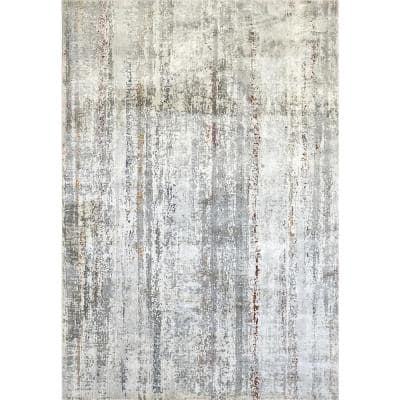 Torino Ivory/Multi 2 ft. x 3 ft. 11 in. Contemporary Polyester Area Rug