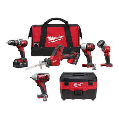 M18 18-Volt Lithium-Ion Cordless Combo Tool Kit (4-Tool) with Wet/Dry Vacuum and 3/8 in. Impact Wrench