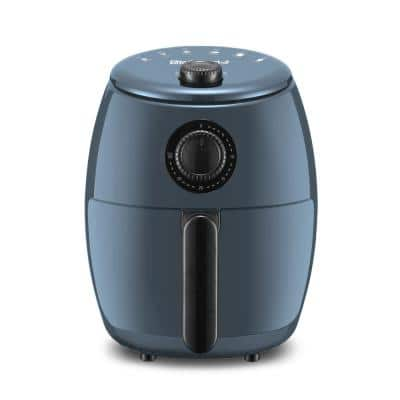 Elite Gourmet 2.1 Qt. Blue Grey Hot Air Fryer with Adjustable Timer
