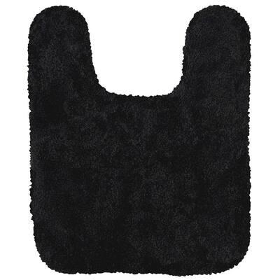 Acclaim Black 20 in. x 24 in. Nylon Machine Washable Bath Mat