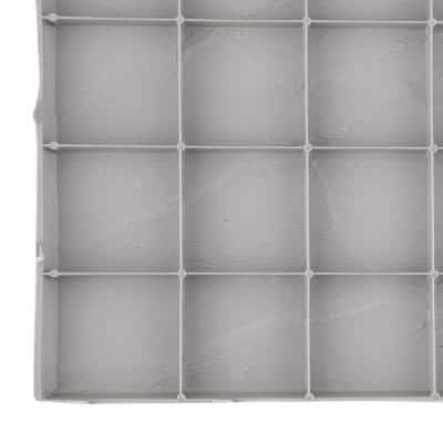 16 in. x 16 in. Flat Rock Grey Plastic Resin Lightweight Duty Patio Paver (12-Pack)