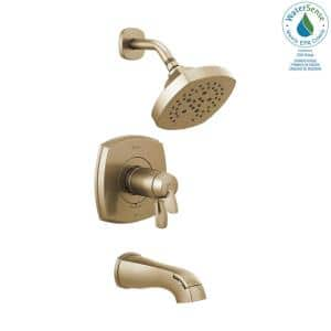 Stryke TempAssure 1-Handle Wall Mount 5-Spray Tub and Shower Faucet Trim Kit in Champagne Bronze (Valve Not Included)