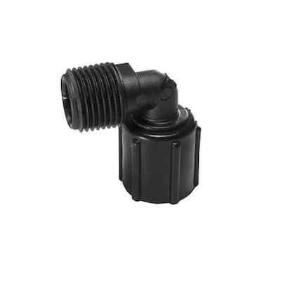 1/2 in. Plastic PEX Male Pipe Thread x 1/2 in. BSP Female Swivel 90-Degree Elbow (5-Pack)