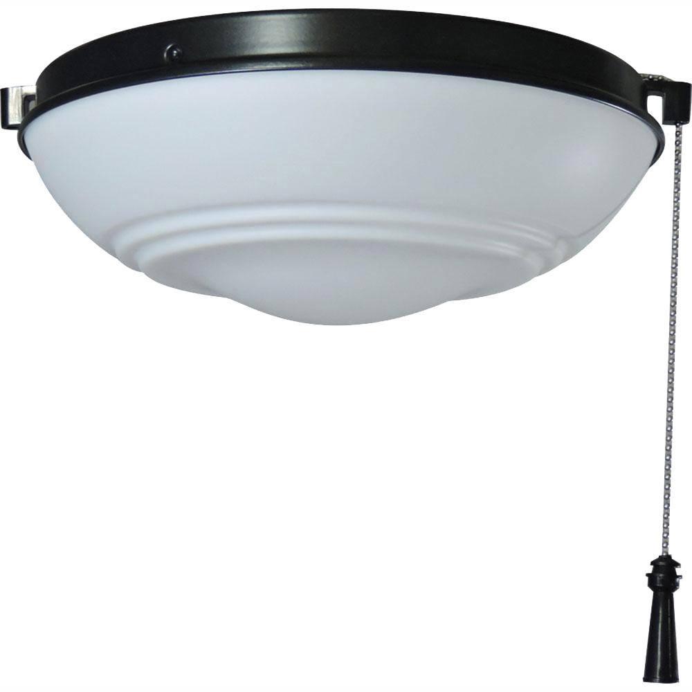 Hampton Bay Raleigh Led Natural Iron Universal Ceiling Fan Light Kit 91186 The Home Depot