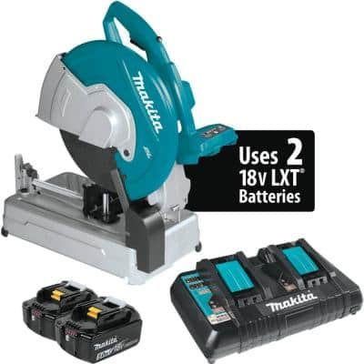 18-Volt X2 LXT Lithium-Ion 36-Volt Brushless Cordless 14 in. Cut-Off Saw with Electric Brake, 5.0 Ah