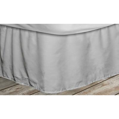 Frita 15 in. Grey Striped Full Bed Skirt
