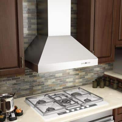 """ZLINE 36"""" Professional Ducted Wall Mount Range Hood in Stainless Steel (667-36)"""