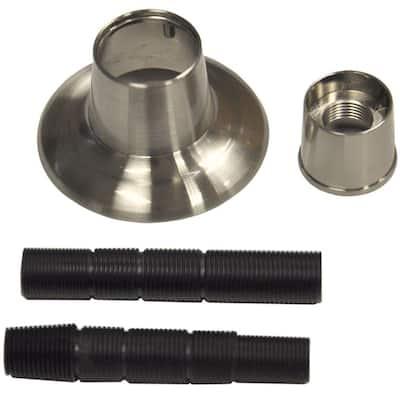 1/2 in. Adjustable Tub/Shower Handle Flange in Brushed Nickel