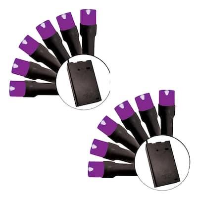 15-Light Battery-Operated little Light, Purple (Set of 2)