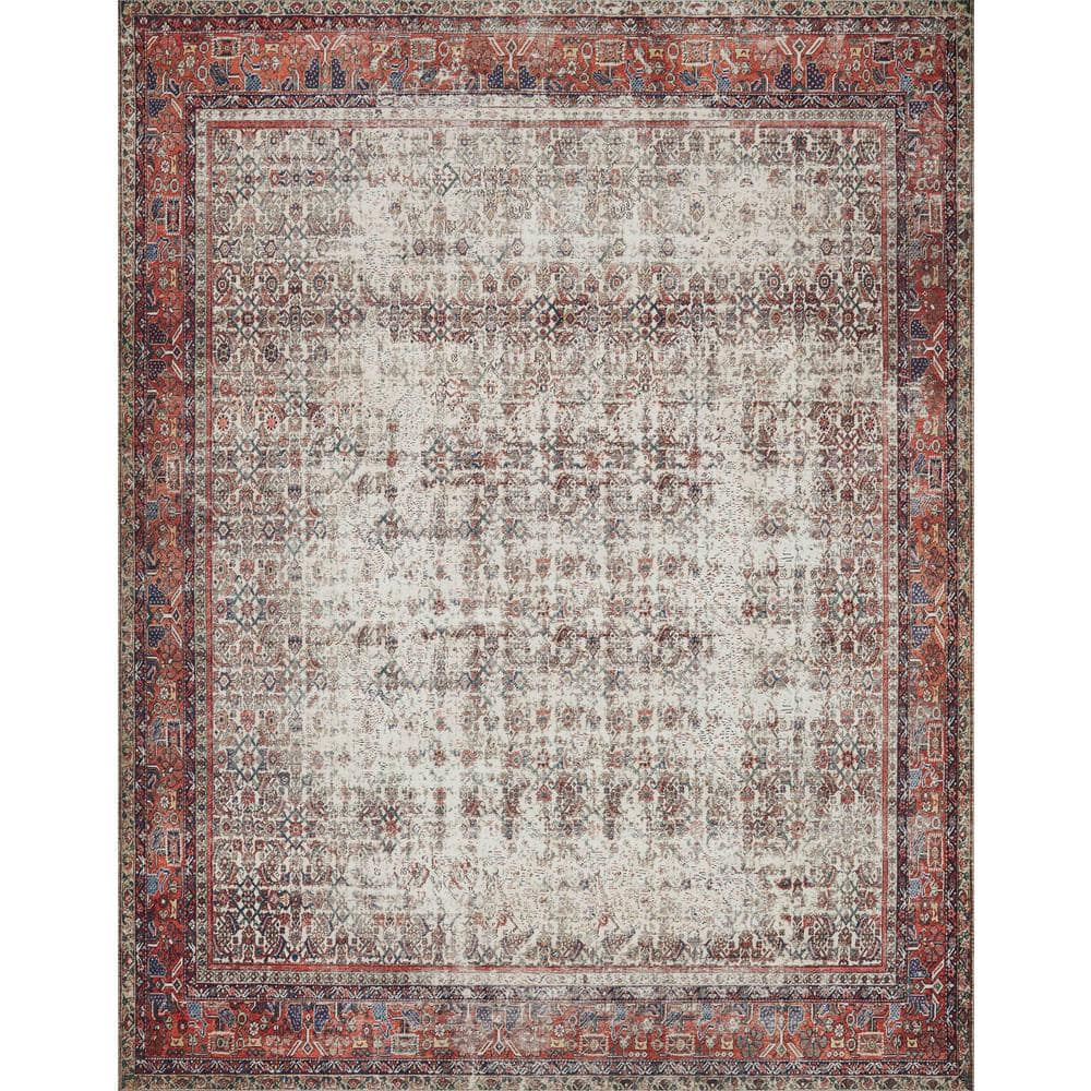 Loloi Ii Layla Ivory Brick 2 Ft 6 In X 9 Ft 6 In Traditional 100 Polyester Runner Rug Layllay 12ivbk2696 The Home Depot
