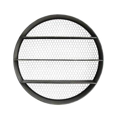 Collected Notions 6 in. x 41 in. x 41 in. Gray Round Metal Wall Decor with 4 Shelves
